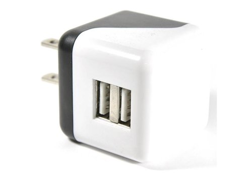 Cube Wall Adapter- 2 Port (Black/White)