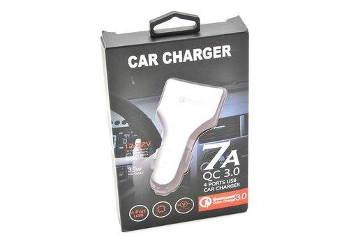 Qualcomm Car Charger Adapter 35W - 4 Port USB (7A QC 3.0)
