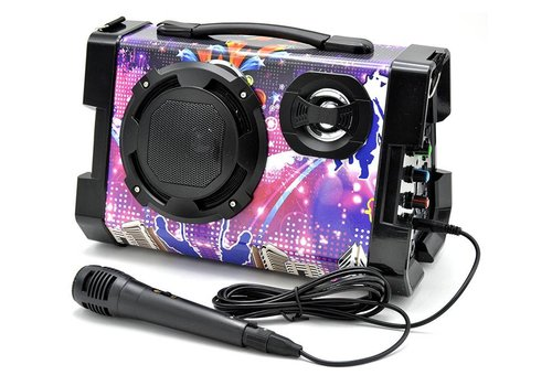 Bluetooth Speaker w/ Mic for Karaoke (KTS-663)
