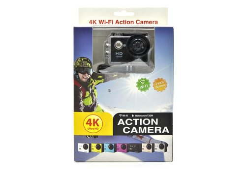 "Waterproof 4K Ultra Action Camera w/ 2"" LCD"