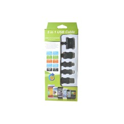 5 in 1 Multi-Pin USB Cable- 3ft (30P/LC/V8/3.0)