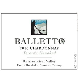 "Innocent Balletto ""Teresa's Unoaked"" Chardonnay"