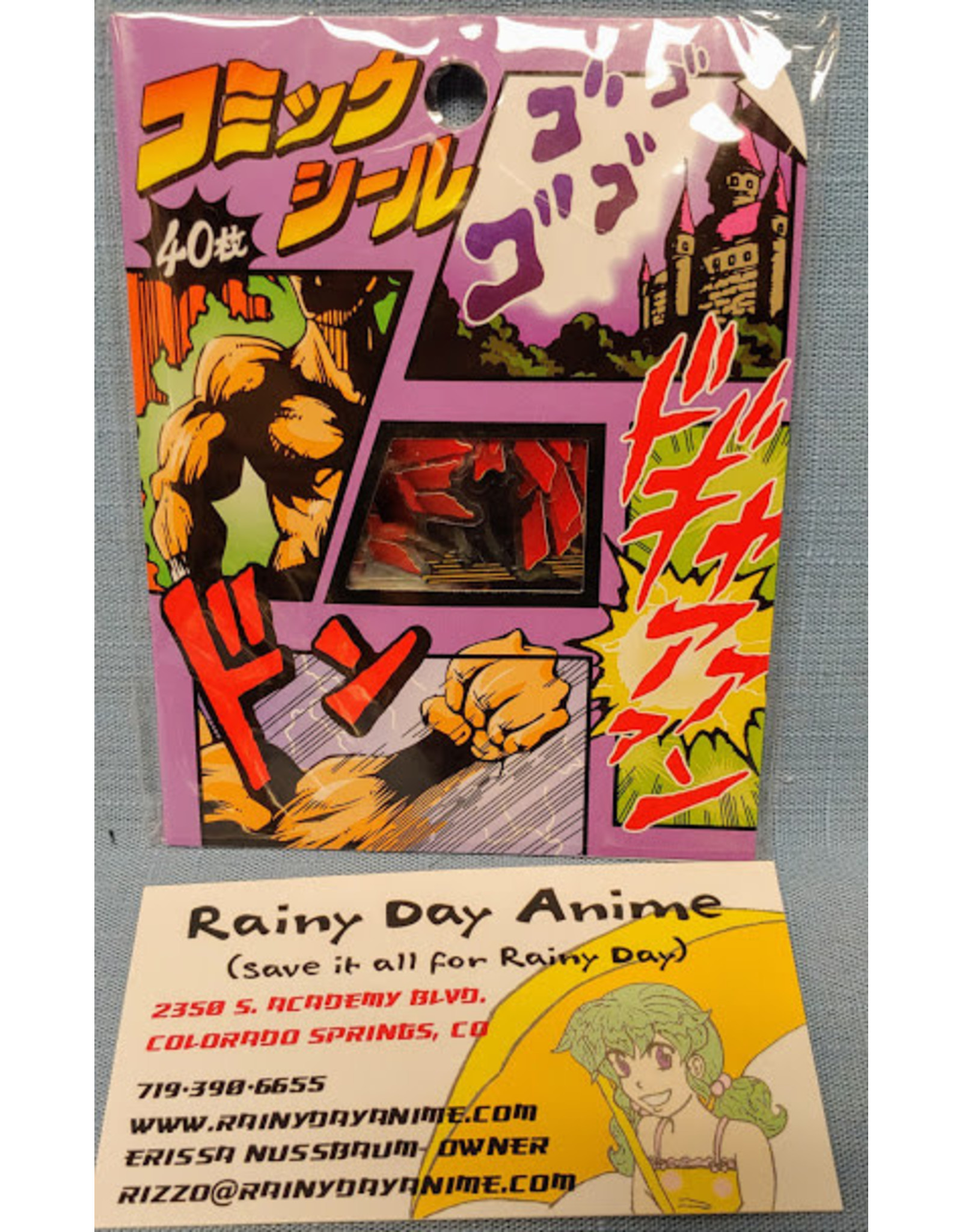 Comics Bubble Shonen Stickers