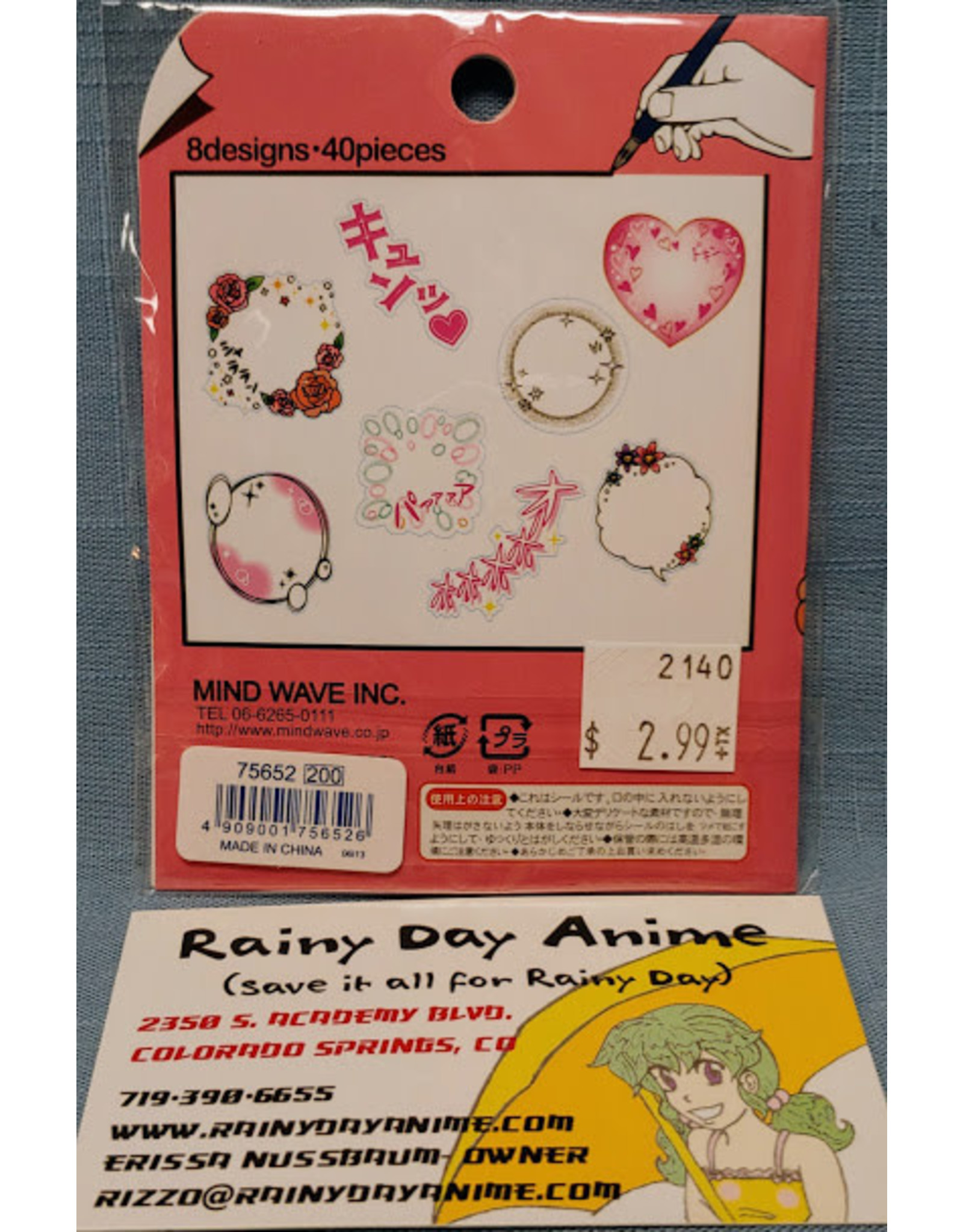 Comic Bubble Stickers Shojo