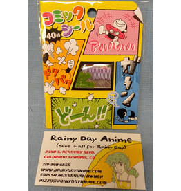 Comics Bubble Gag Manga Stickers