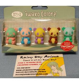 Iwako Colorz Panda Eraser Set