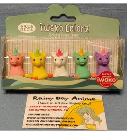 Iwako Colorz Unicorn Eraser Set