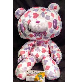 Gloomy Bear Card Suit Pink/Purple Plush