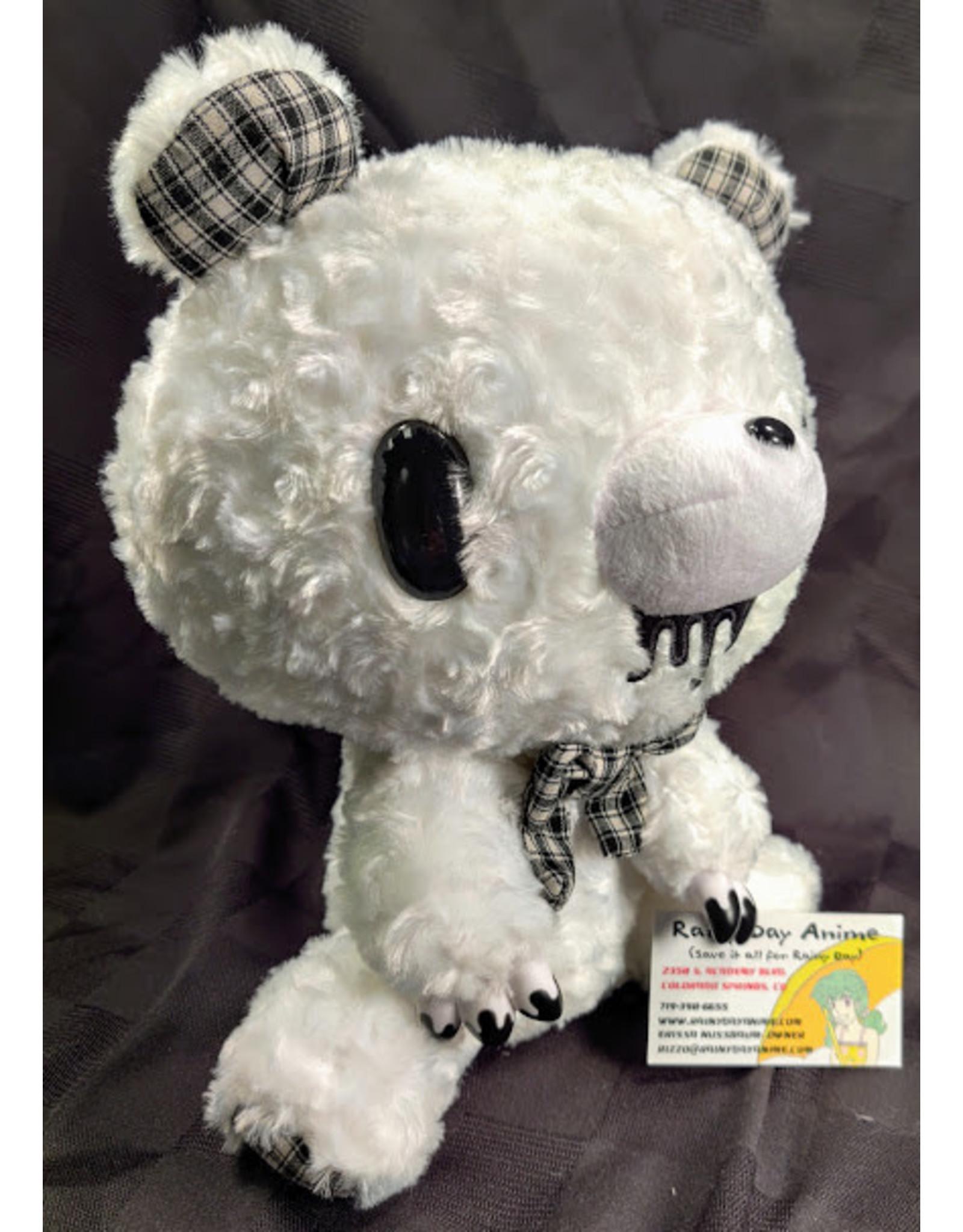 Gloomy Bear Mono Checker White Plush