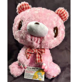 Gloomy Bears Mono Checker Pink Plush