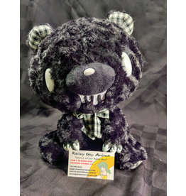 Gloomy Bear Mono Checker Black Plush