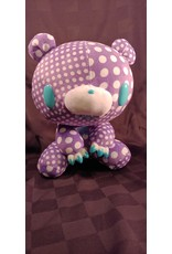Gloomy Bear Crazy Dots Purple Plush