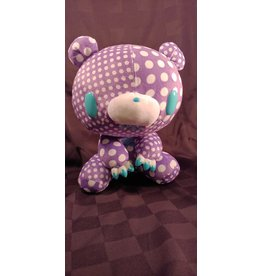 Gloomy Bear Crazy Dots Purple Plush