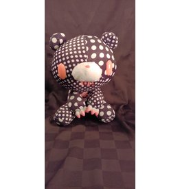 Gloomy Bear Crazy Dots Black Plush