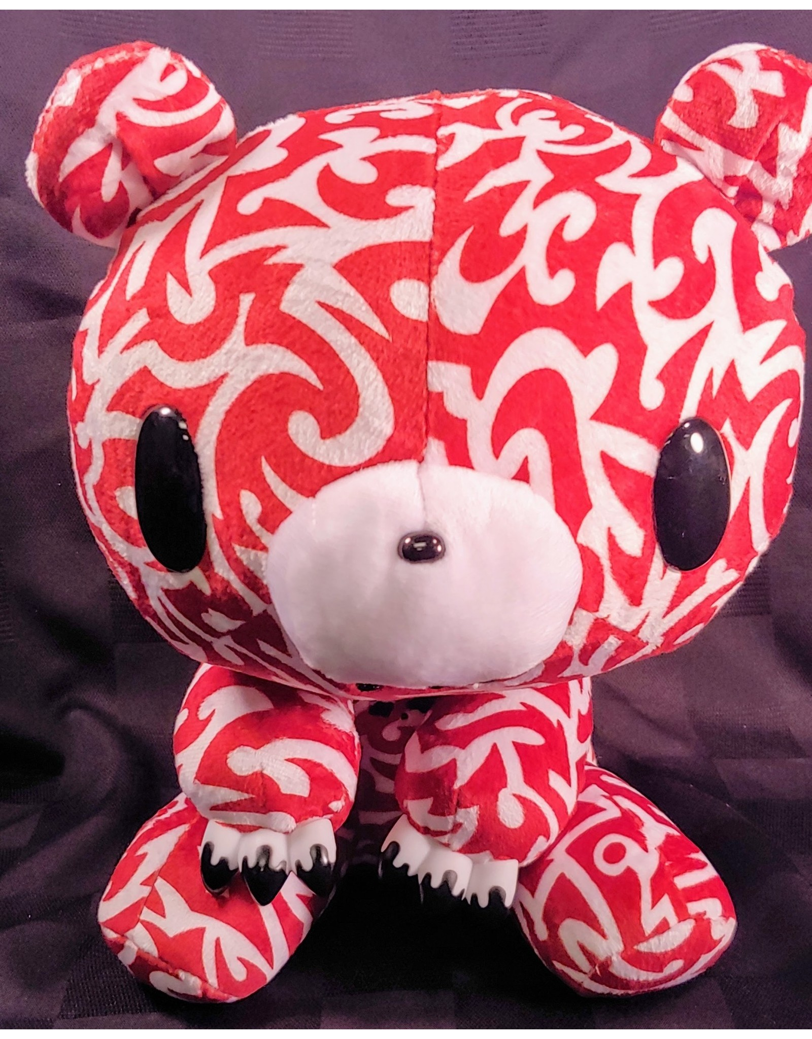 Gloomy Bear Tribal Red Plush