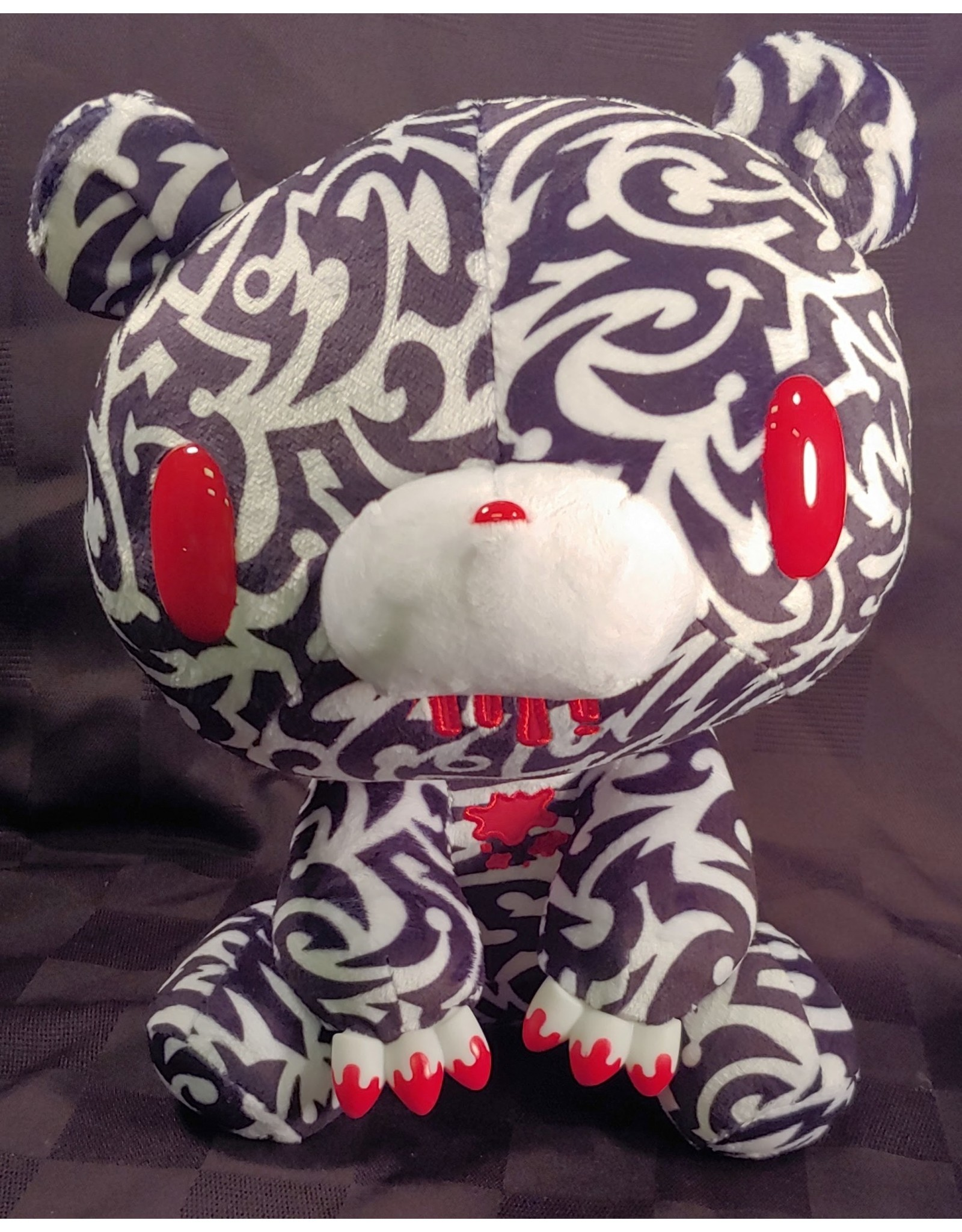 Gloomy Bear Tribal Black Plush