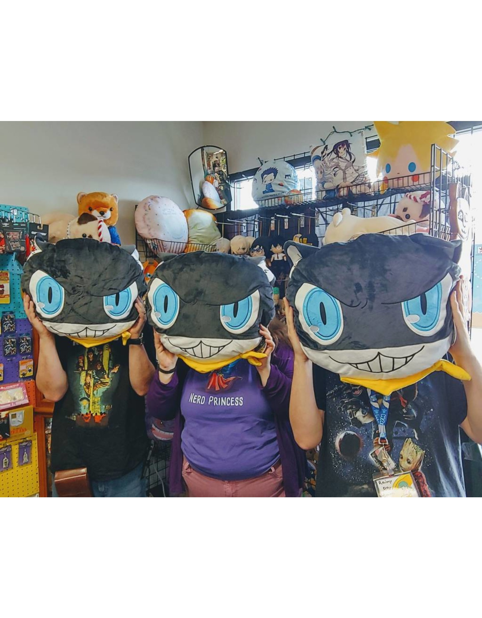 Persona 5 Morgana Head Cushion