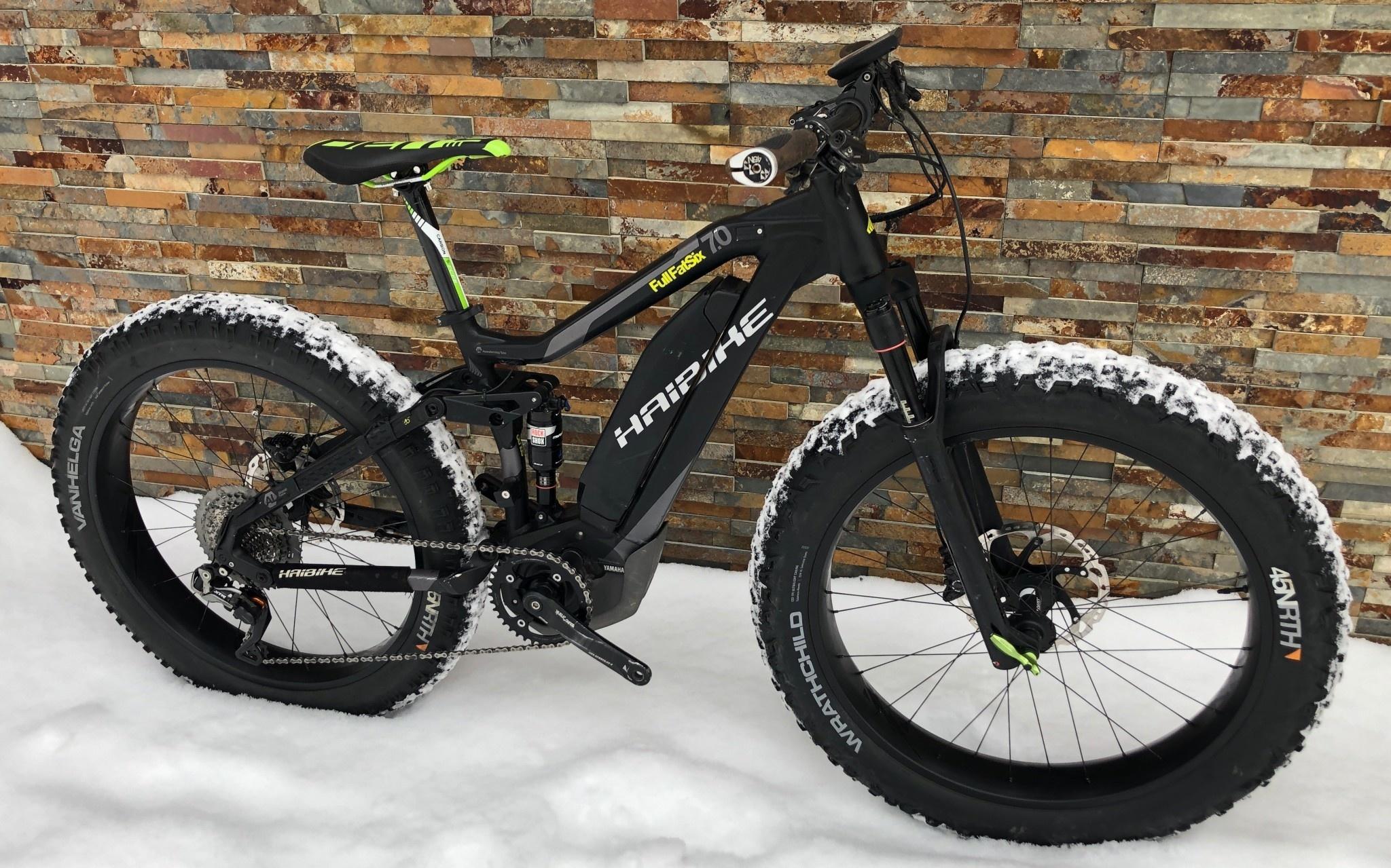Haibike Used Small Haibike Full FatSix XTR Di2 Carbon Wheels