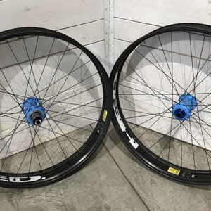 HED Carbon Fat Wheelset w Blue Onyx Hubs