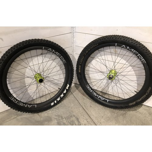 LaMere Fat Summer Wheelset Onyx Lime Hubs