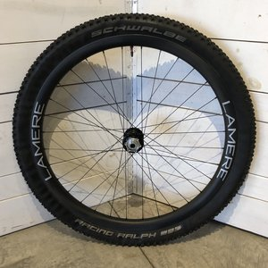 LaMere Cycles Summer Fat Carbon front wheel, 15x110, Onyx hub