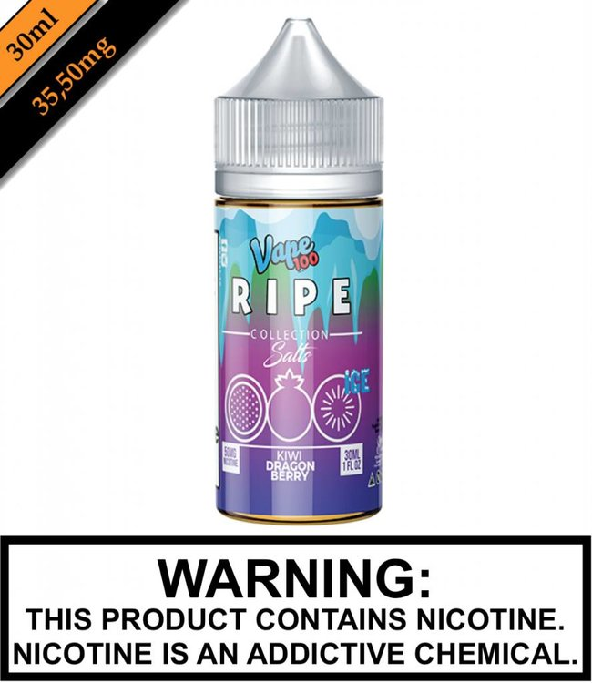 Ripe Collection Salts Ice by Vape 100 Ripe Collection Salts Ice - Kiwi Dragon Berry 30ML