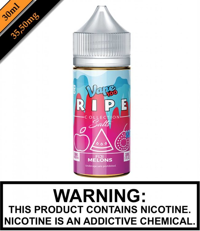 Ripe Collection Salts Ice by Vape 100 Ripe Collection Salts Ice - Fiji Melons 30ML
