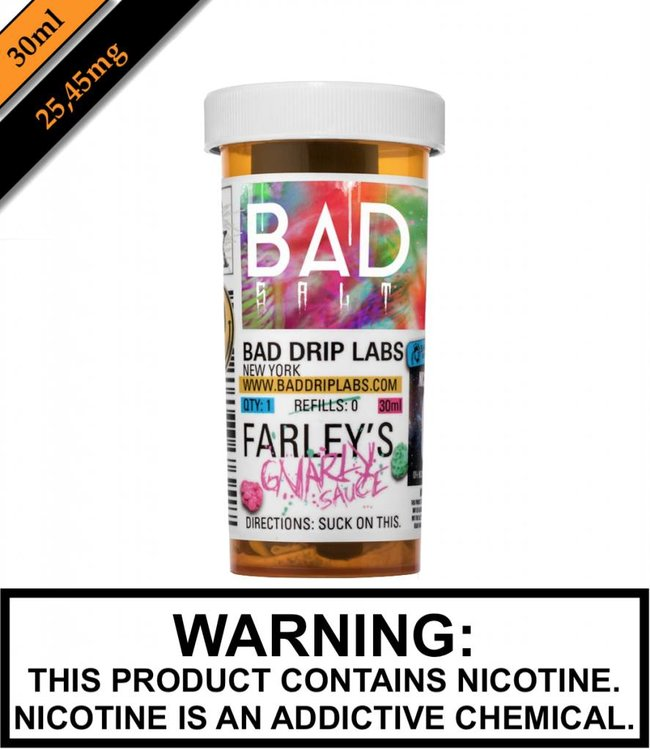 Bad Drip Labs Bad Salt By Bad Drip Labs - Farley's Gnarly Sauce (30ML)