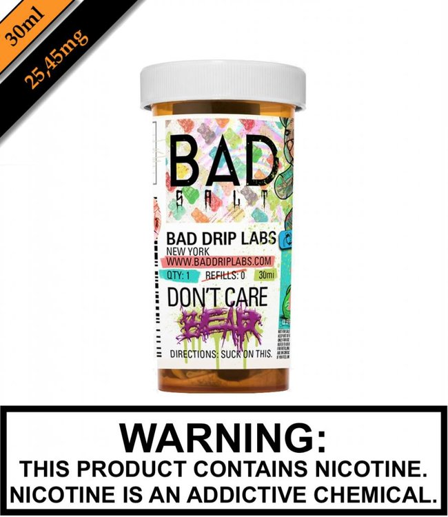 Bad Drip Labs Bad Salt By Bad Drip Labs - Don't Care Bear (30ML)