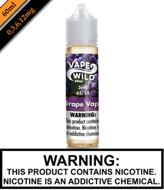 Vape Wild Steeped & Ready Vape Wild Steeped & Ready - Grape Vape 60ML