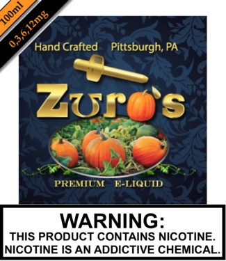 Zuro's Zuro's 100ML Bottles - Pumpkin