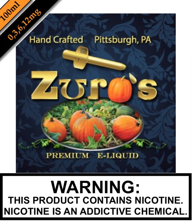 Zuro's Zuro's Eliquids - Pumpkin 100ML