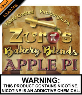 Zuro's Zuro's Eliquids - Apple Pi (100ML)