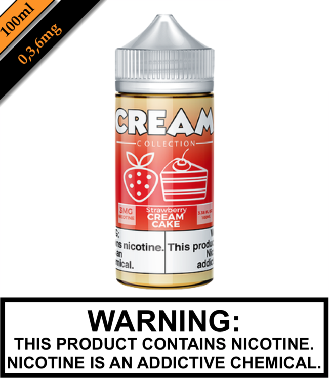 Cream Collection by Vape 100 Cream Collection - Strawberry Cream Cake (100ML)