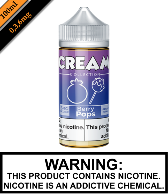 Cream Collection by Vape 100 Cream Collection - Berry Pops (100ML)