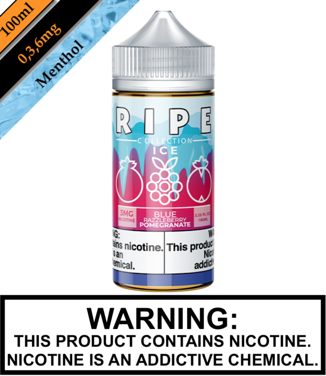 Ripe Collection Ice by Vape 100 Ripe Collection Ice - Blue Razzleberry Pomegranate 100ML