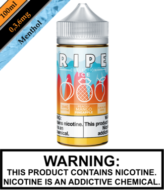 Ripe Collection Ice by Vape 100 Ripe Collection Ice - Peachy Mango Pineapple