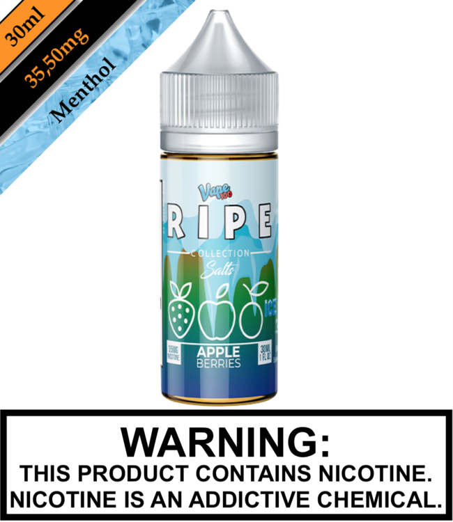Ripe Collection Salts Ice by Vape 100 Ripe Collection Salts Ice - Apple Berries 30ML
