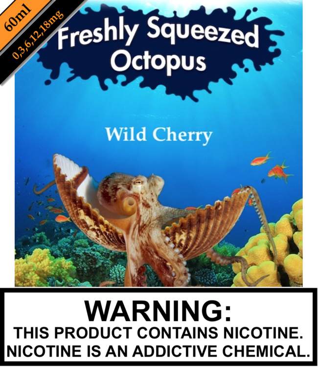 Freshly Squeezed Octopus Freshly Squeezed Octopus - Wild Cherry 60ML