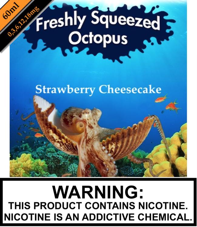 Freshly Squeezed Octopus Freshly Squeezed Octopus - Strawberry Cheesecake (60ML)