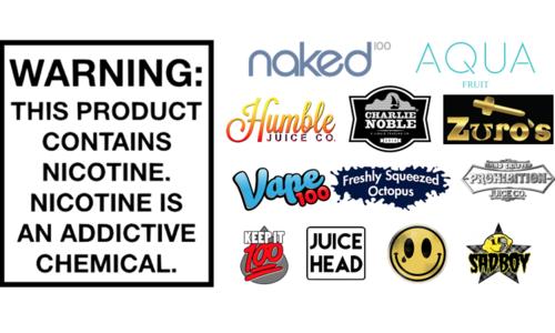 Eliquids By Brand
