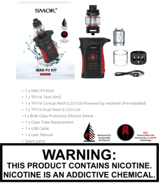 Smok Smok - Mag P3 230W TC Kit with 9ML TFV16 Tank