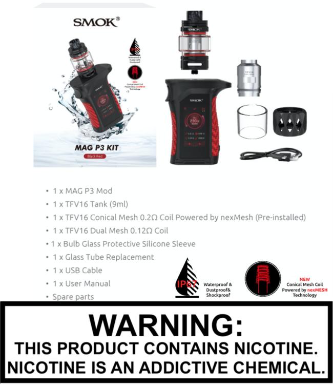 Smok Smok - Mag P3 230W TC Kit with 9ML TFV16 Tank