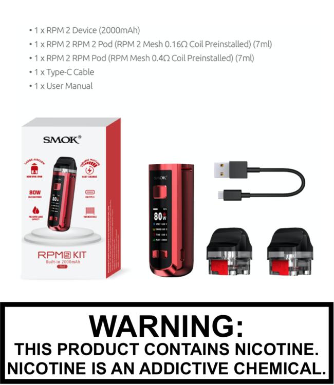 Smok Smok - RPM 2 (2000mAh 80W) Pod Kit