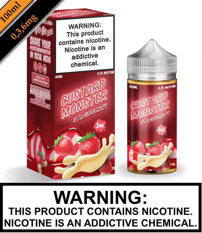 Custard Monster Custard Monster - Strawberry Custard (100ML)