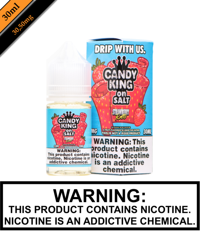 Drip More Candy King on Salt - Strawberry Rolls (30ML)