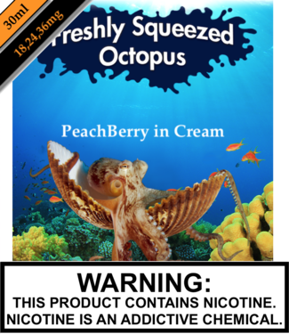 Freshly Squeezed Octopus Salts Freshly Squeezed Octopus Salts - PeachBerry in Cream (30ML)