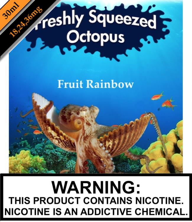 Freshly Squeezed Octopus Salts Freshly Squeezed Octopus Salts - Fruit Rainbow (30ML)
