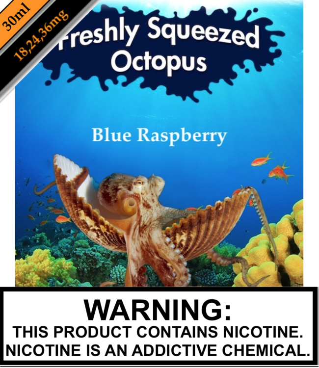 Freshly Squeezed Octopus Salts Freshly Squeezed Octopus Salts - Blue Raspberry (30ML)