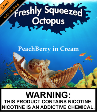 Freshly Squeezed Octopus Freshly Squeezed Octopus - PeachBerry in Cream (60ML)